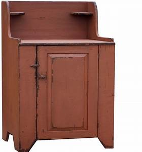 PRIMITIVE WASHSTAND VANITY PAINTED DRY SINK CABINET