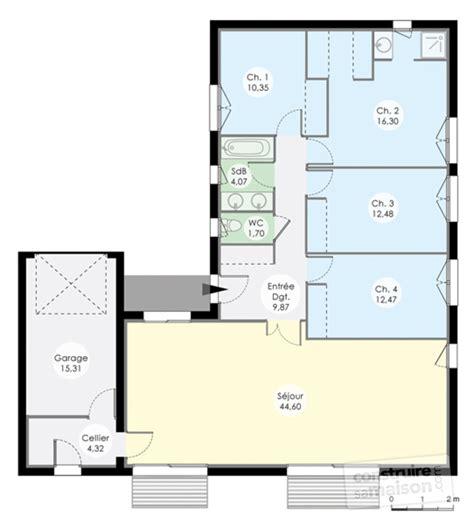 plan maison plain pied 4 chambres garage plan de maison plain pied 4 chambres sans garage ventana