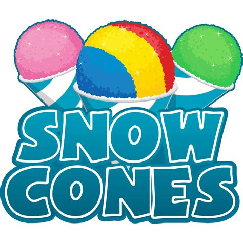 Snow Cone Clip Snow Cones Concession 8 Quot Decal Sign Cart Trailer Stand