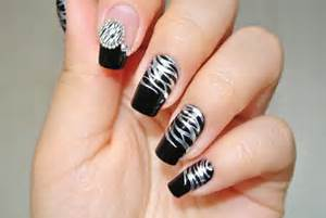 Black and silver nail designs ideas photos