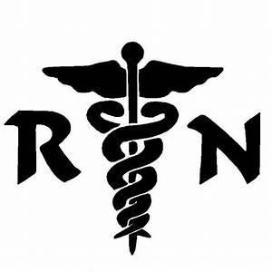 6 Inch RN Nurse Medical logo Decal Sticker by Cafedecals ...