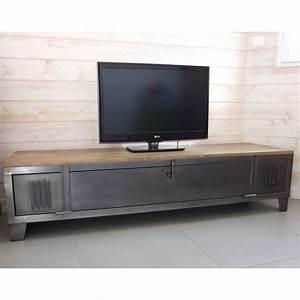 meuble tv industriel avec ancien vestiaire heure creation With meuble t