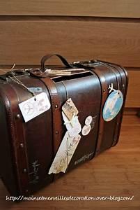 Valise Vintage Pas Cher : valise ancienne tirelire mariage suitcases pinterest mariage vintage and voyage ~ Teatrodelosmanantiales.com Idées de Décoration