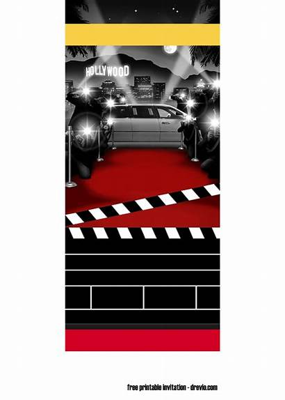 Invitation Template Printable Ticket Party Templates Hollywood
