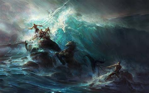 Fantasy Art, Painting, Artwork, Poseidon Wallpapers Hd
