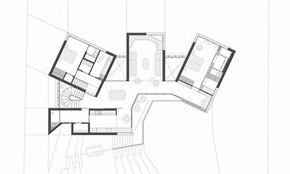 Space Exhibition Plan Floor Interconnected Residential Architizer