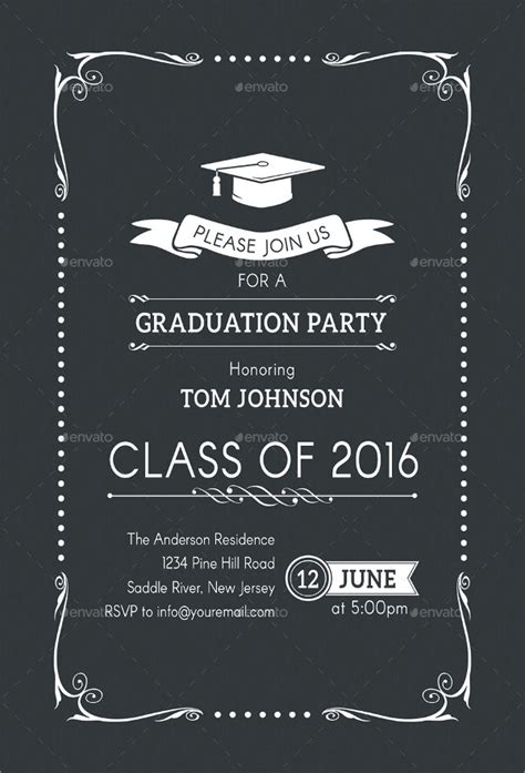 FREE 31+ Examples of Graduation Invitation Designs in PSD