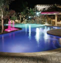 Inground Pool Lights by Fiber Optic Lighting For An Inground Swimming Pool Home