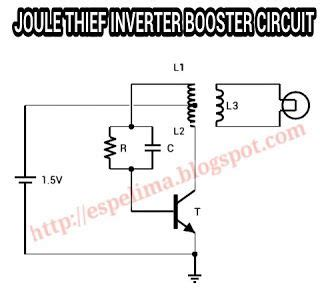 joule thief inverter 1 5v to 220v ac light skema circuit jt joule thief