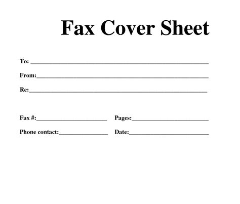 11688 standard fax cover sheet free fax template free fax cover sheet template
