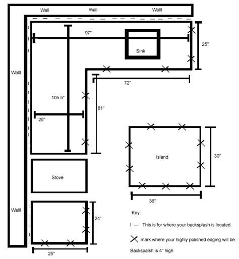 Countertop Sq Ft Calculator by How To Measure For Granite Mycoffeepot Org