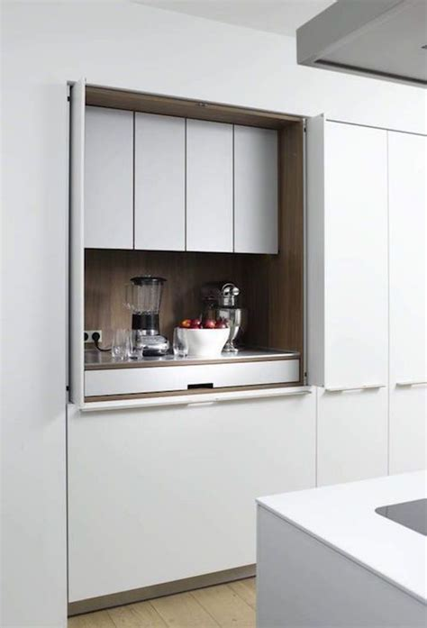 Disappearing Act 14 Minimalist Hidden Kitchens  Kitchen
