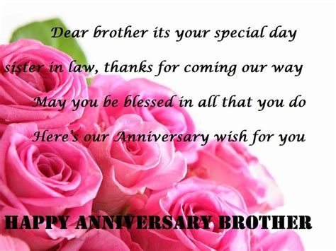 happy anniversary wishes  brother  sister  law brother anniversary wishes happy
