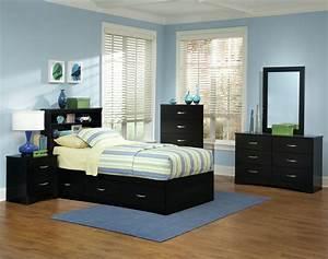 Black, Bedroom, Suite