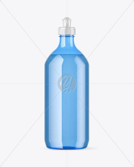 The most common bottle tag mockup material is paper. Blue Plastic Bottle with Squeeze Cap Mockup in Bottle ...