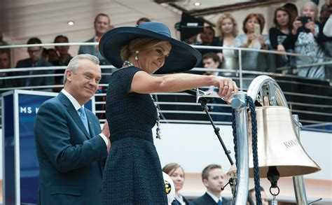 Schip Dopen by Cruise Diva Koningsdam Is Christened Next New Ship Gets