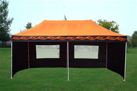 orange flame pop  tent canopy gazebo
