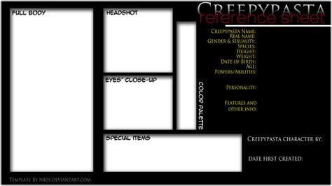 creepypasta oc template the gallery for gt smile original creepypasta