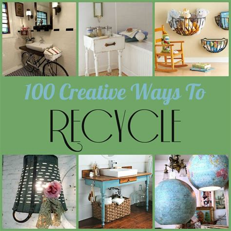 100 Creative Ways To Recycle  Diy Inspired
