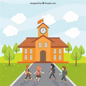 Los niños van a la escuela   Descargar Vectores gratis