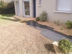 Dalle De Jardin Beton : dalles b ton cir couleur jardin ~ Melissatoandfro.com Idées de Décoration