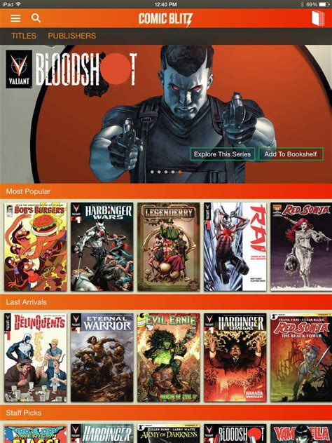 comic blitz    read digital comic book