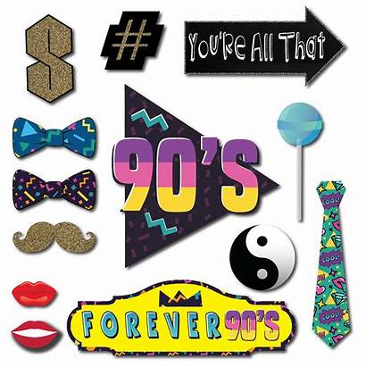 Props Booth 90s Party Theme Wooden 1990s