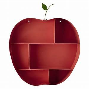 Wandregal Aus Metall : wandregal apfel aus metall rosa h 73 cm api maisons du monde ~ Markanthonyermac.com Haus und Dekorationen