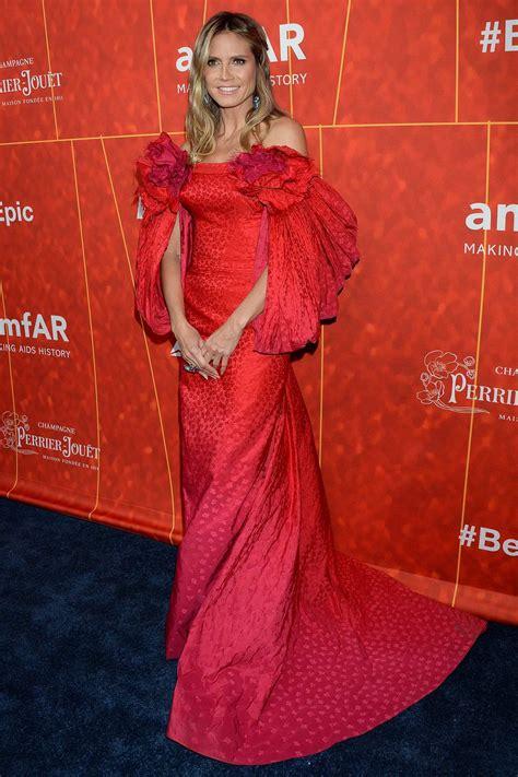 Heidi Klum Attends Amfar Inspiration Gala Wallis
