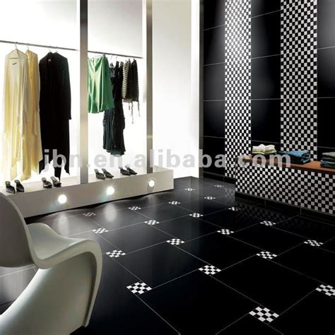 black gloss ceramic floor tiles 24x24 high gloss supe black homogeneous polished porcelain floor tile buy bathroom floor tiles