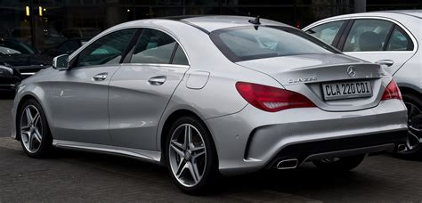 The cla 45 amg comes with the same exact steering wheel, which looks and feels very sporty. File:Mercedes-Benz CLA 220 CDI AMG Line (C 117) - Heckansicht, 13. Juni 2014, Düsseldorf.jpg ...