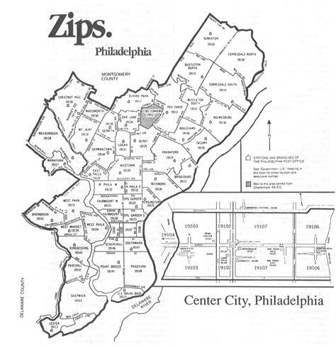 philadelphia zip code map map2