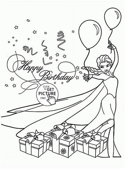 Coloring Birthday Card Cards Happy Pages Printable