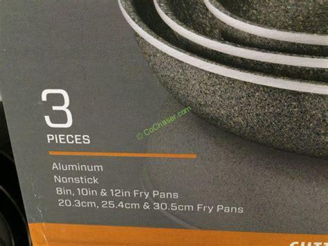 henckels capri granitium pk aluminum fry pan set costcochaser