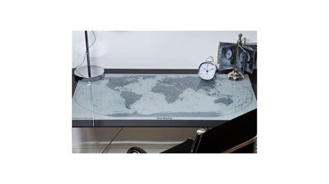 achetez votre bureau en verre et chrome carte du monde mundi kare design pas cher sur loft