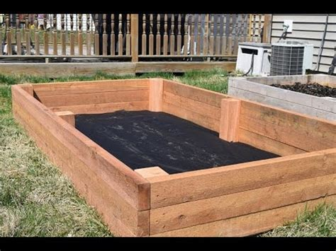 How To Make A Raised Garden Bed (woodloggercom) Youtube