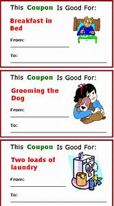 Free Homemade Coupon Printables  7 Moms
