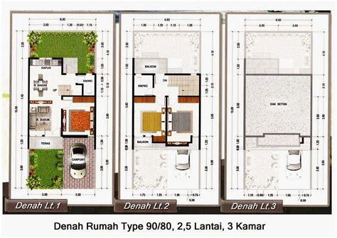 denah rumah minimalis  lantai type