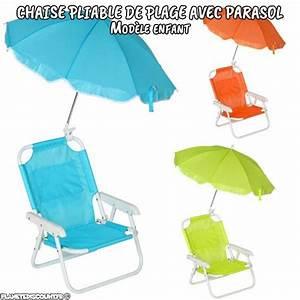 Chaise Enfant Pas Cher : chaise pliante avec parasol chaise de plage parasol enfant pas cher ~ Teatrodelosmanantiales.com Idées de Décoration