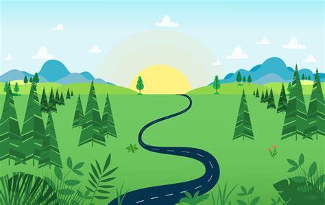 Vector Landscape illustration - Download Free Vectors ...