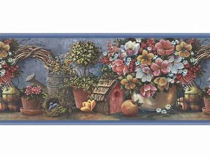 Border Borders Floral Wall Paper Prepasted Garden