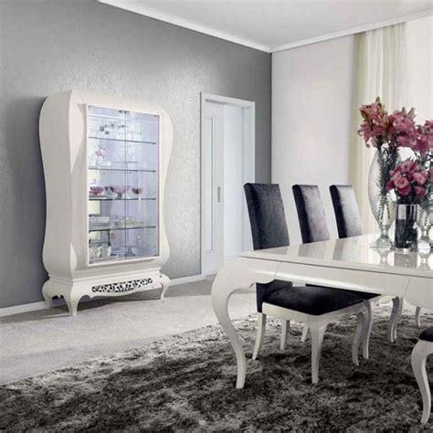 cuisine blanche moderne salle à manger moderne laque blanc argent york