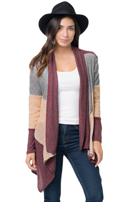 Dropship Sweaters And Cardigans Us 792wine Shawl Neck