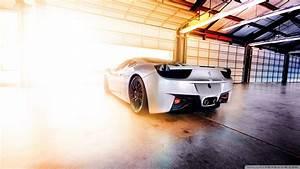 Ferrari In Garage 4K HD Desktop Wallpaper for 4K Ultra HD