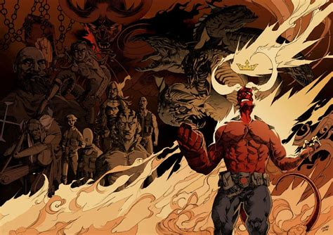 patton oswalt hellboy david harbour teases hellboy movie with right hand of doom