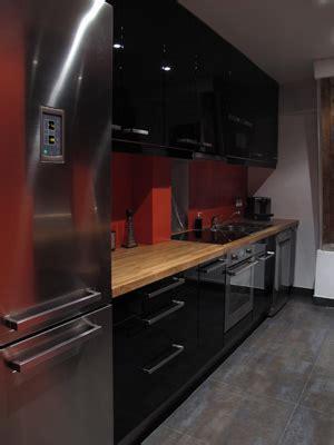 tv pour cuisine cuisine laquée et orange levitte