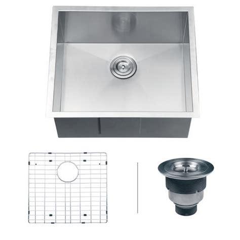 menards stainless steel sink ruvati rvh7100 undermount 16 gauge 23 quot kitchen sink single