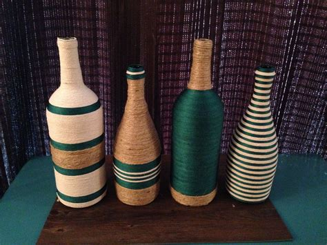 Wine Bottle Craft- All You Need It Fabric Glue And You Are