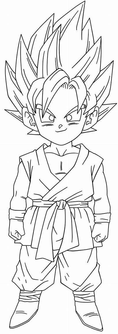 Goku Coloring Kid Ssj2 Gt Ball Dragon