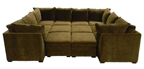 couch with large ottoman furniture u shaped sectional sofa with ottoman to create
